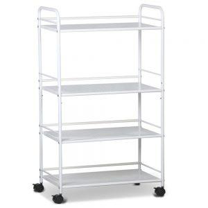 4 shelf clinic trolley